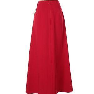 NWT Red Kay Unger Full Length Skirt Size 2